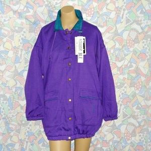 Vintage Reversible Jacket Size L By Simply Basic